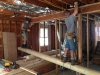 Cutting free the floor joists