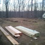 Lumber gets delivered.