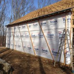 TYVEK and strapping.