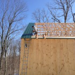 Starting the metal roof.
