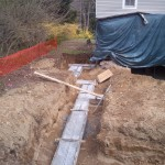 New footings are in.