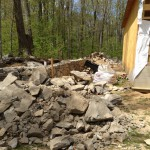 New stone wall
